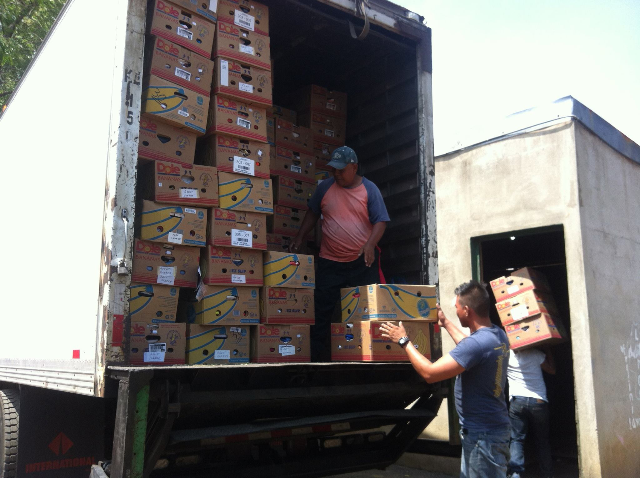 Indiana branch volunteers recently loaded two domestic shipments the first shipment contained medical equipment and supplies for red bird mission in