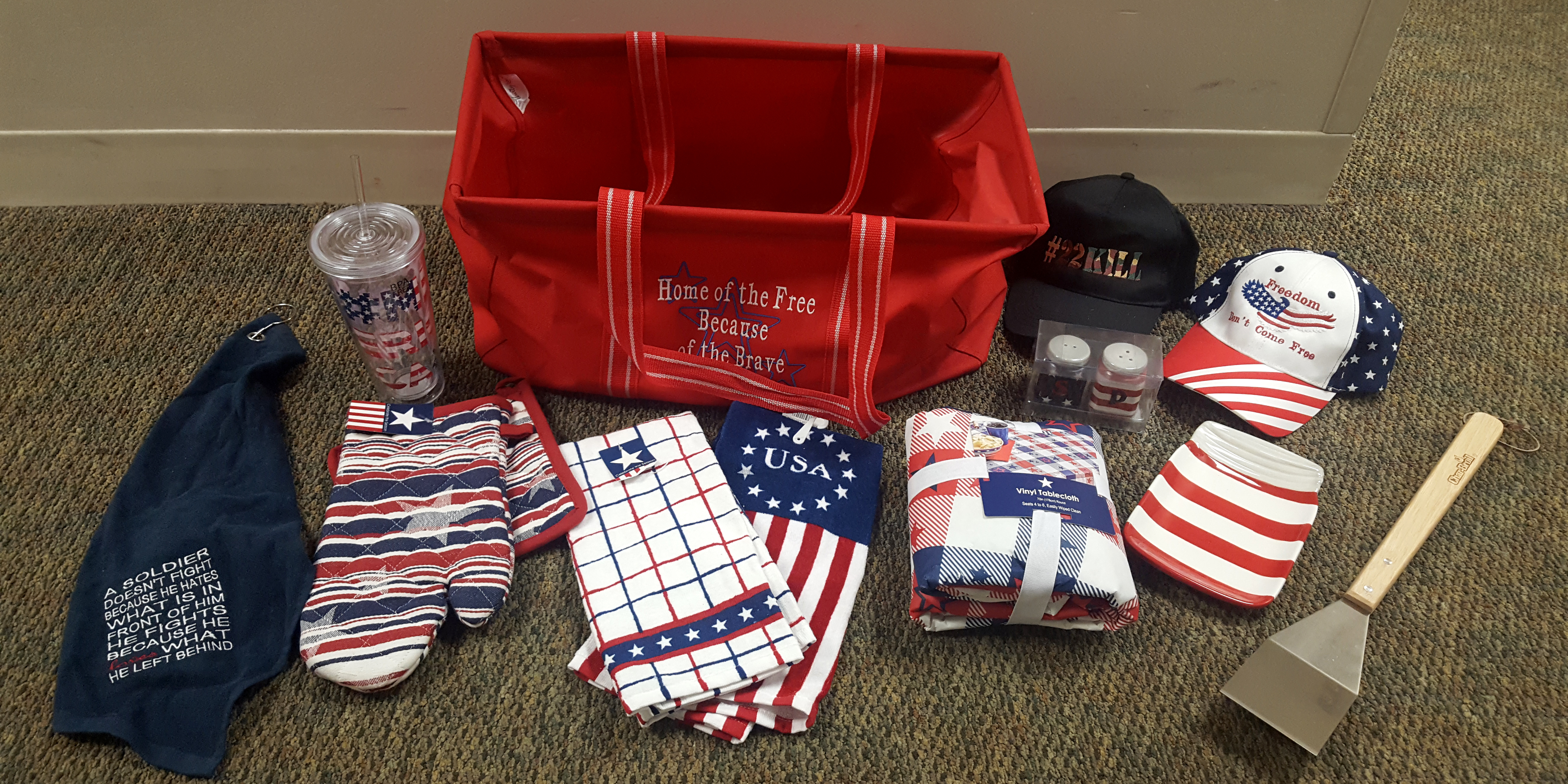 Win this patriotic summer tote filled with goodies