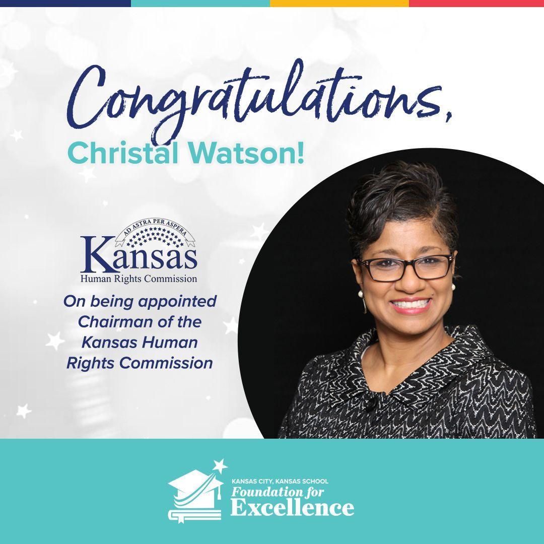 Congratulations, Christal Watson!