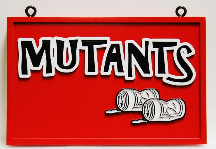 "SA28852 - Carved Sign for the ""Mutants"""