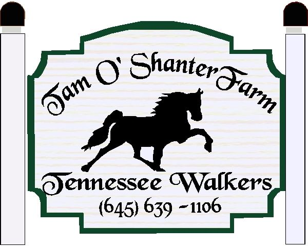 """P25182 - Design of a Sign for the """"Tam O' Shanter"""" Tennessee Walker Horse Farm"""