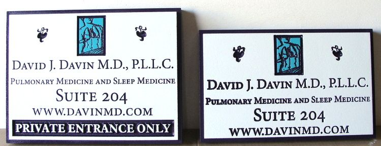 B11011 -  Engraved Wood Signs for MD and Medical Offices