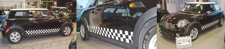 MINI Cooper with Custom Side Panel Checkers