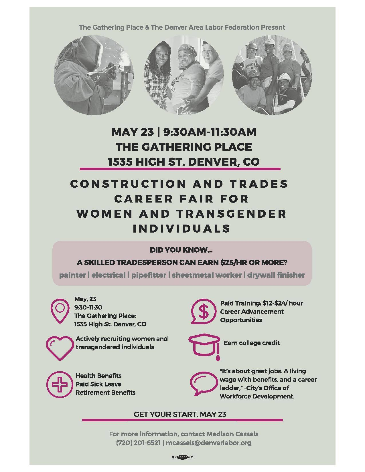 Construction and Trades Career Fair on May 23rd