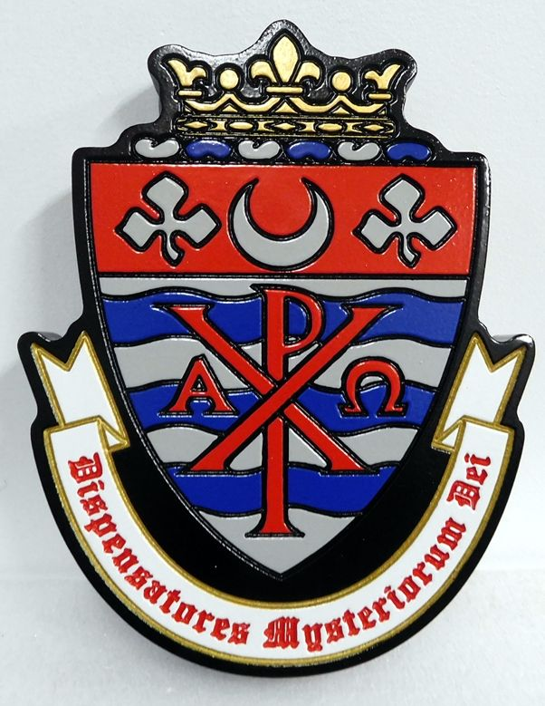 CB5700 - German Wappen / Crest for Family, Engraved Relief