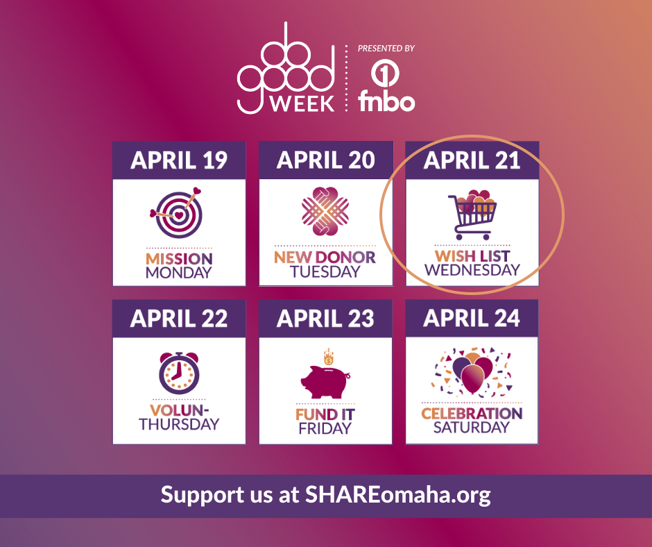 SHARE Omaha Do Good Week: Wish List Wednesday