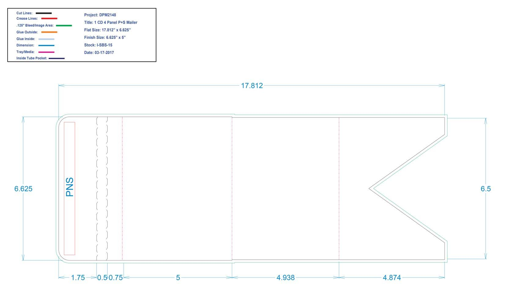 DPM2148 4 panel One CD P+S Mailer