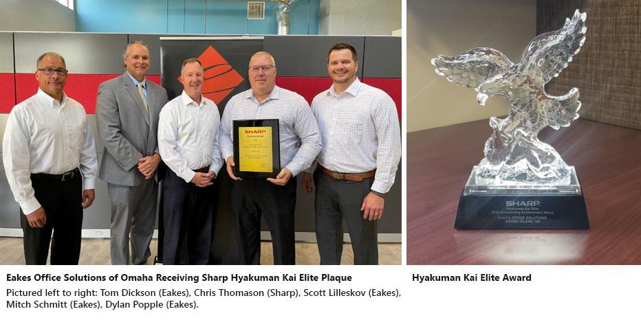 Omaha Sales Team Receiving Award from Sharp