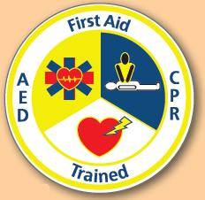 First Aid/CPR Trained Label