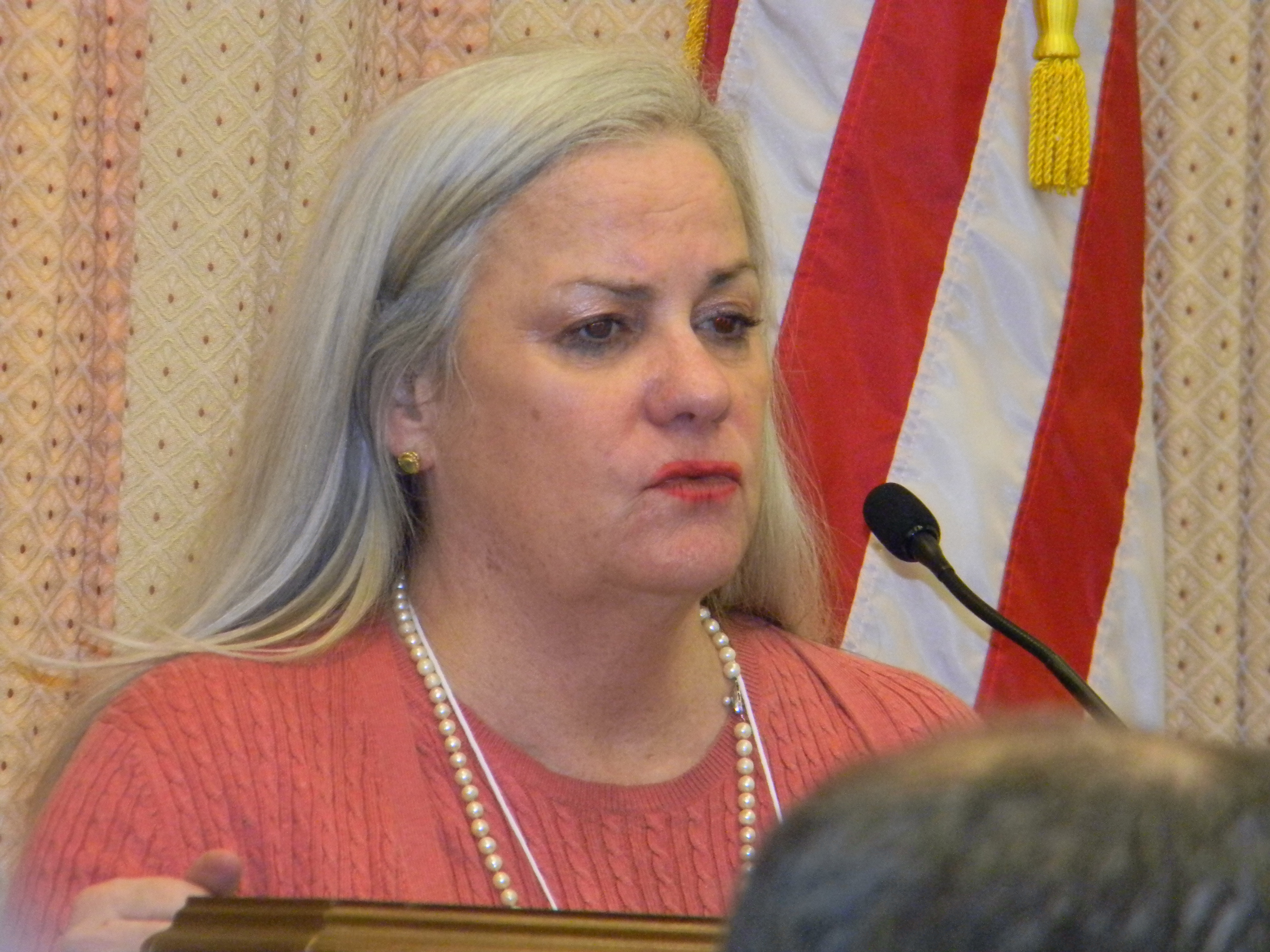 Moira Shea speaking at the Usher syndrome congressional briefing