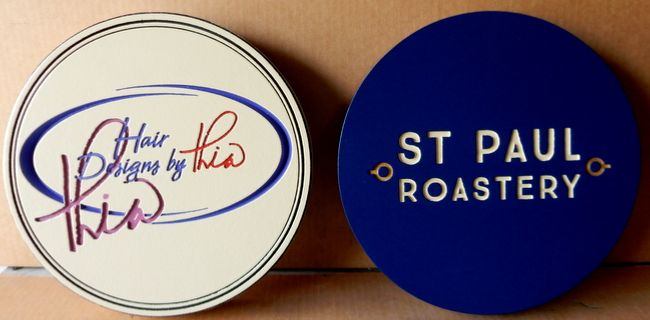 SA28064 - Signs for Hair Design Studio and Restaurant (St. Paul Roastery)