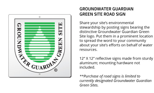 Green Site Road Sign