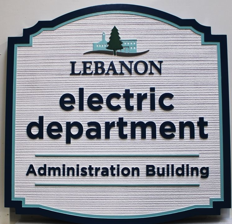 S28209 - Carved  2.5-DMulti-Level and Sandblasted Wood Grain  Sign for the Lebanon Electric Department's Administration Building