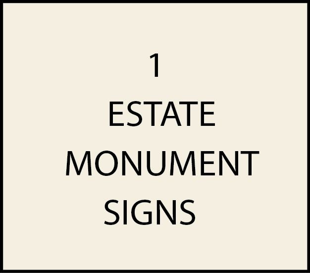 1. - I18000 - Large Monument Signs placed on Entrance Driveways to Estates, Upscale Farms, and Plantations