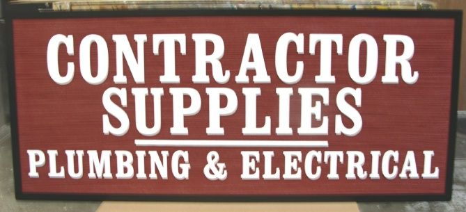 SA28623 - Contractor Supply (Plumbing and Electrical) Sign