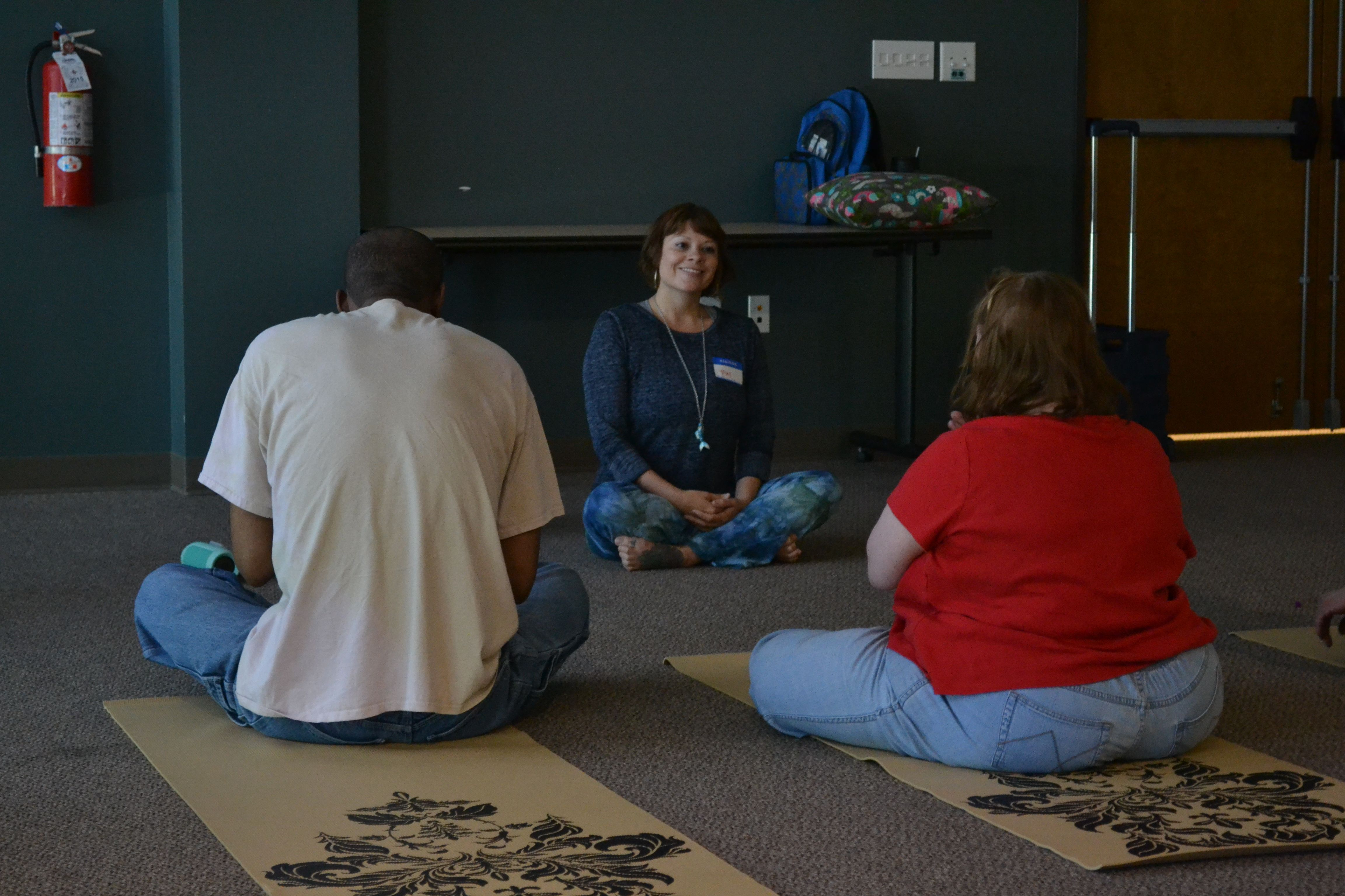 Goodwill hosts yoga class for individuals for with disabilities
