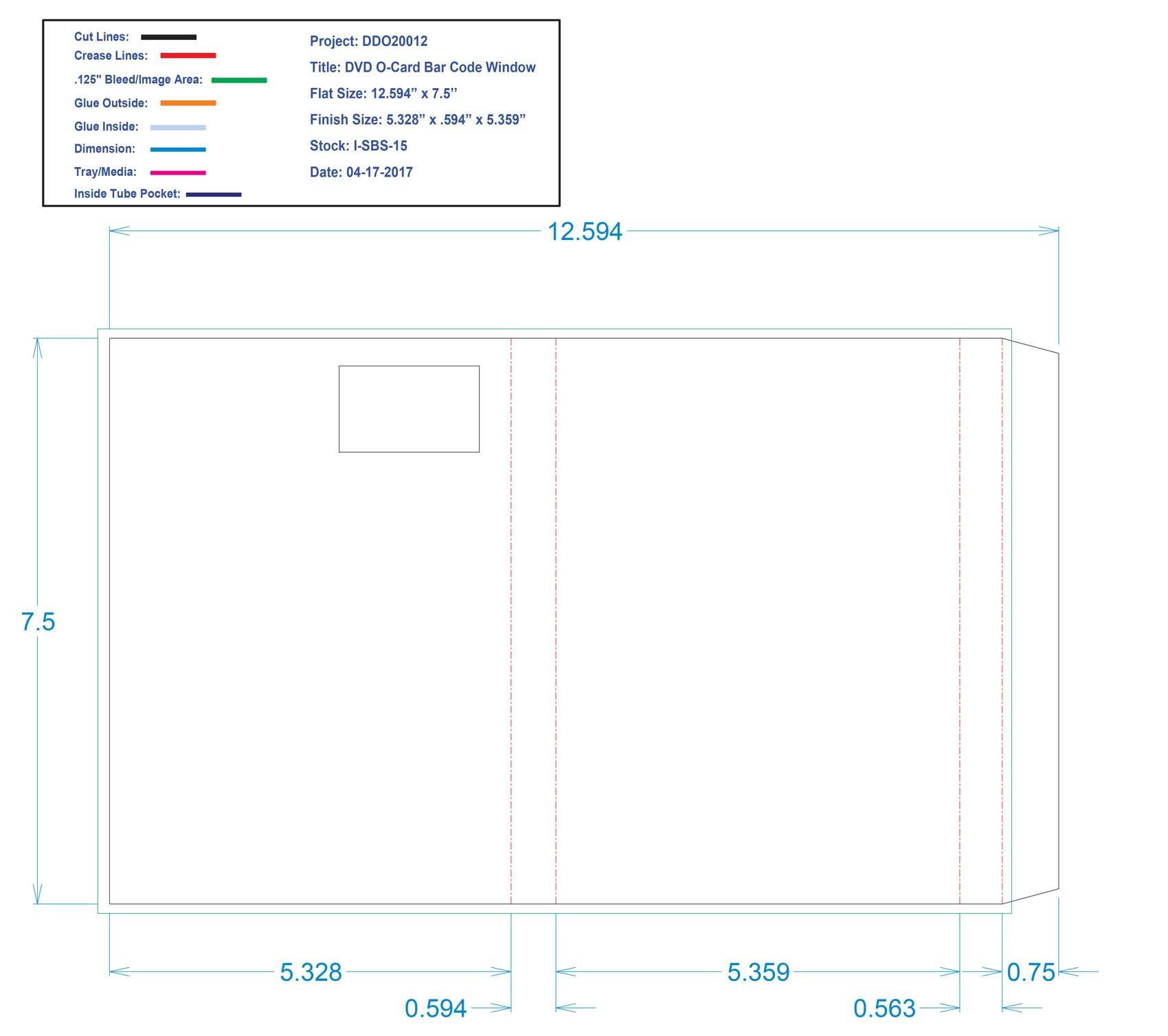 DDO20012 - DVD - O-Card Bar Code Window