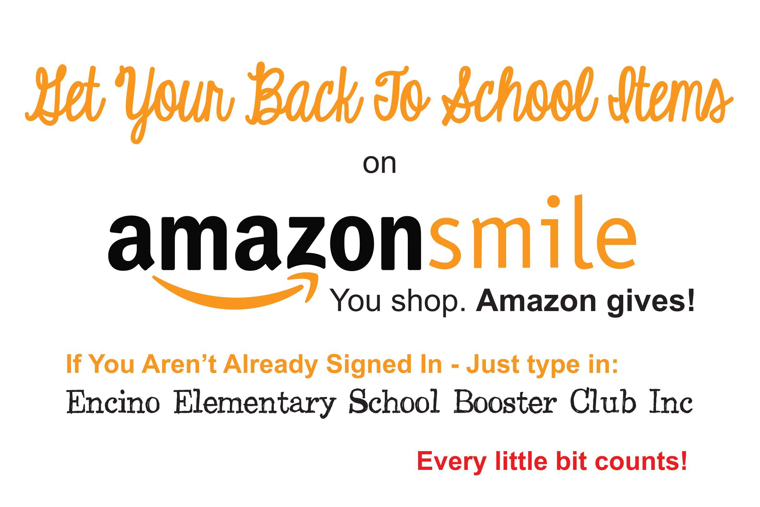 BUY BACK TO SCHOOL SUPPLIES THROUGH AMAZON SMILE