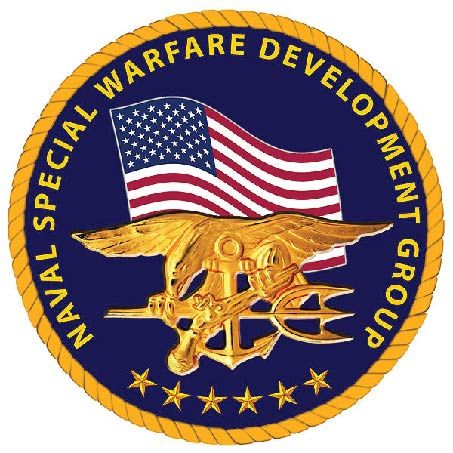 JP-1820 - Carved Plaque of Seal of  Navy Special Warfare Development Group, Artist Painted with Gold Leaf Gilded Badge