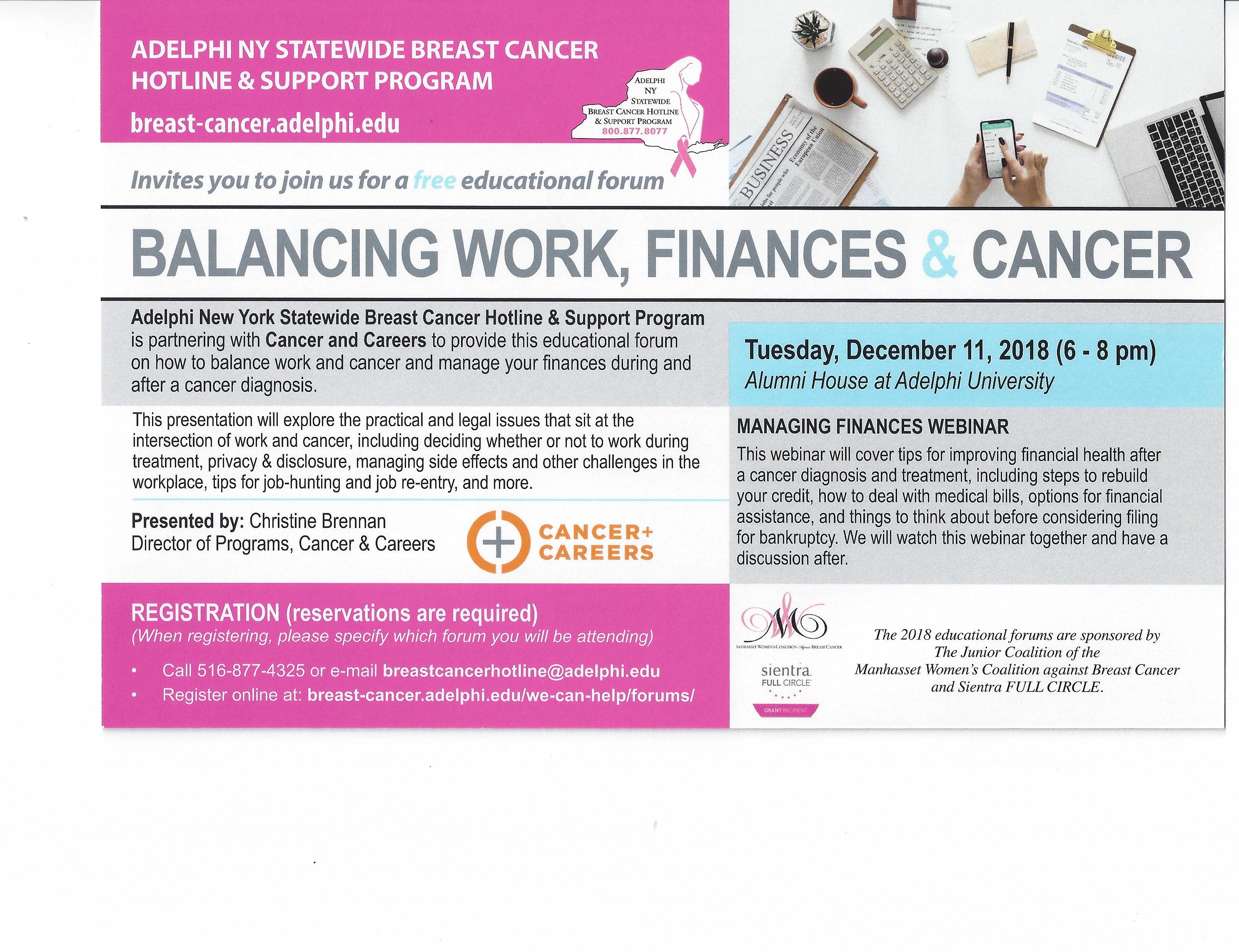Balancing Work, Finances & Cancer