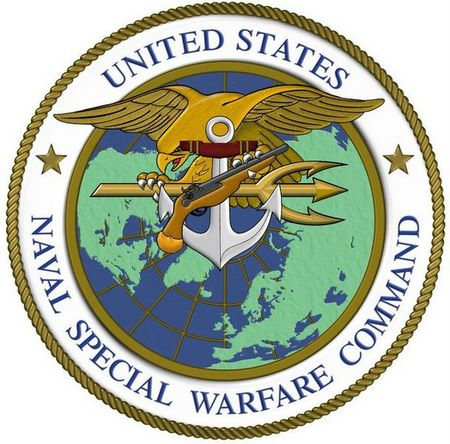 V31369  - Navy Special Warfare Command (NSWC) Seal Carved Wooden Wall Plaque
