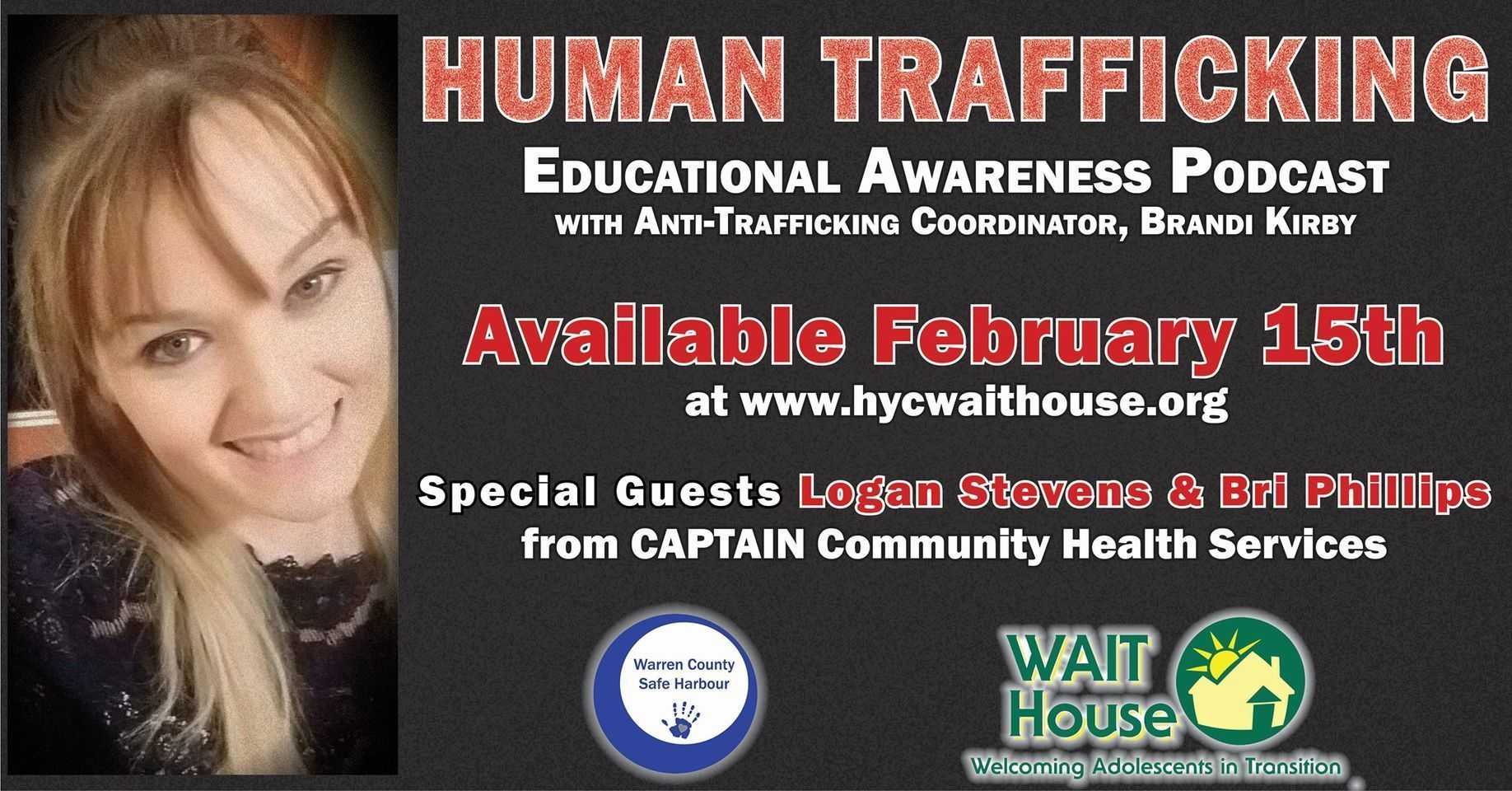 PODCAST: Human Trafficking Educational Awareness (Courtesy of Wait House)
