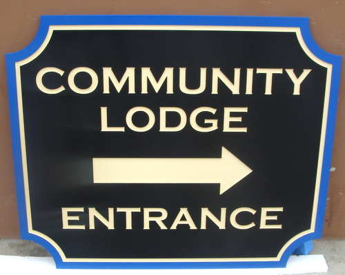 F15071- Carved, Engraved HDU (or Wooden) Staff Entrance Sign