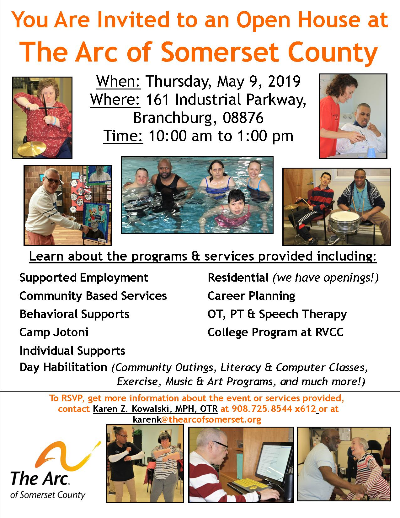 Arc of Somerset County Spring Open House May 9th!