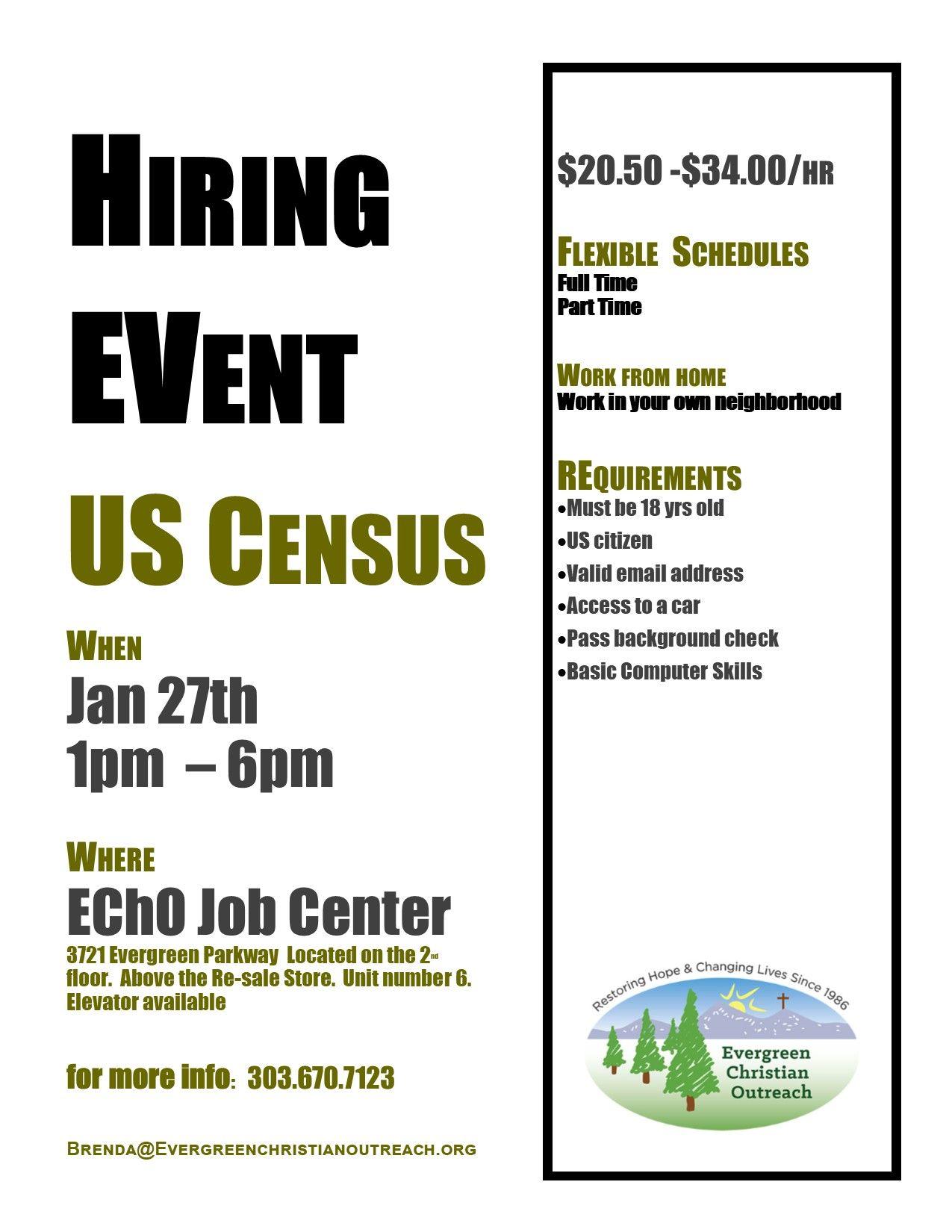 HIRING EVENT: U.S. Census