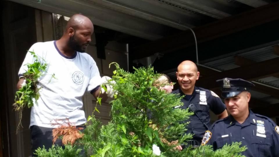 120th Precinct Garden Bed Community Service Project