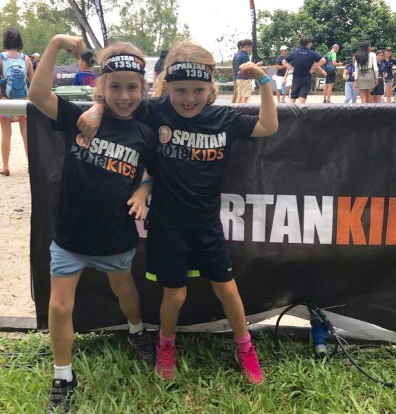Hurdling obstacles to raise funds in Kid's Spartan Race
