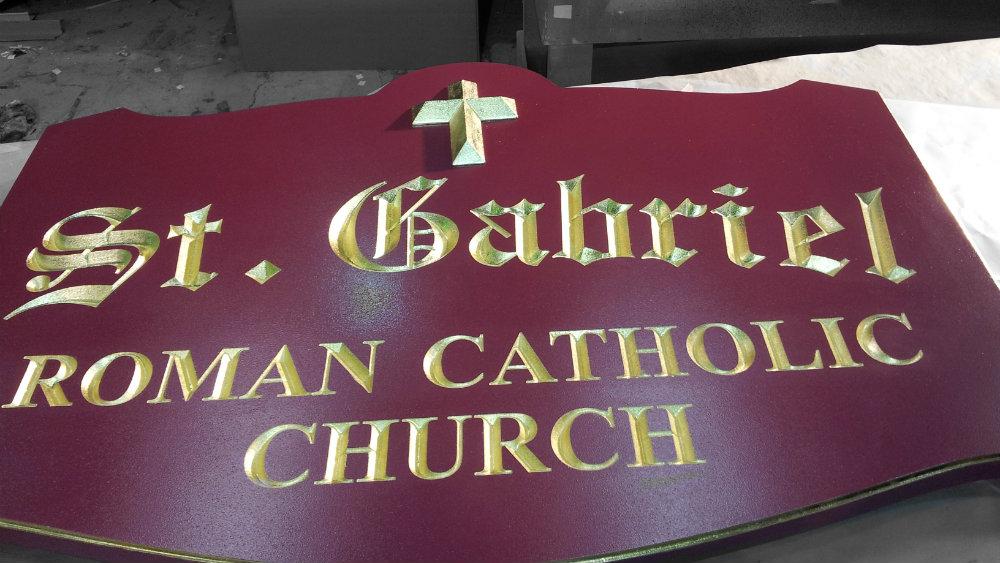 St. Gabriel Engraved