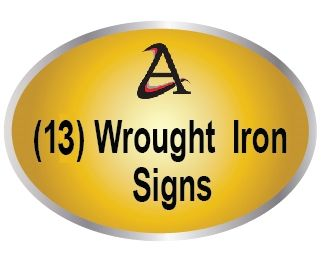 M7600 - (13)  Wrought Iron Signs