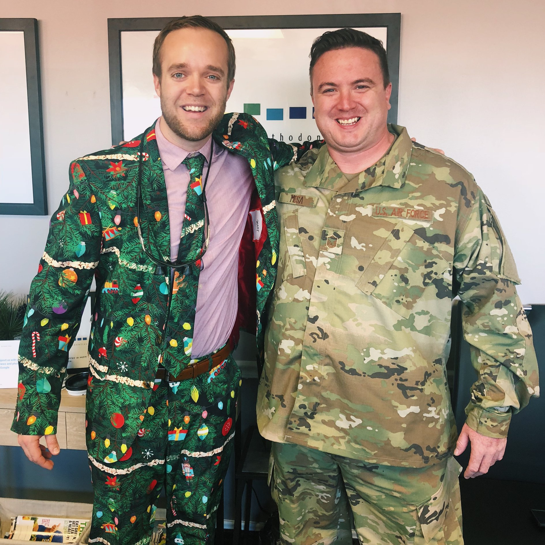 """Christmas Camo"" vs. the real thing!"