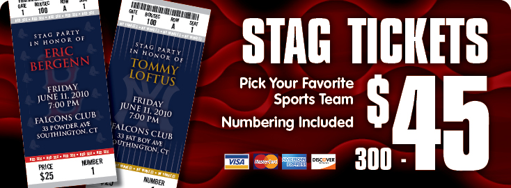 Stag Tickets: Central CT Printer