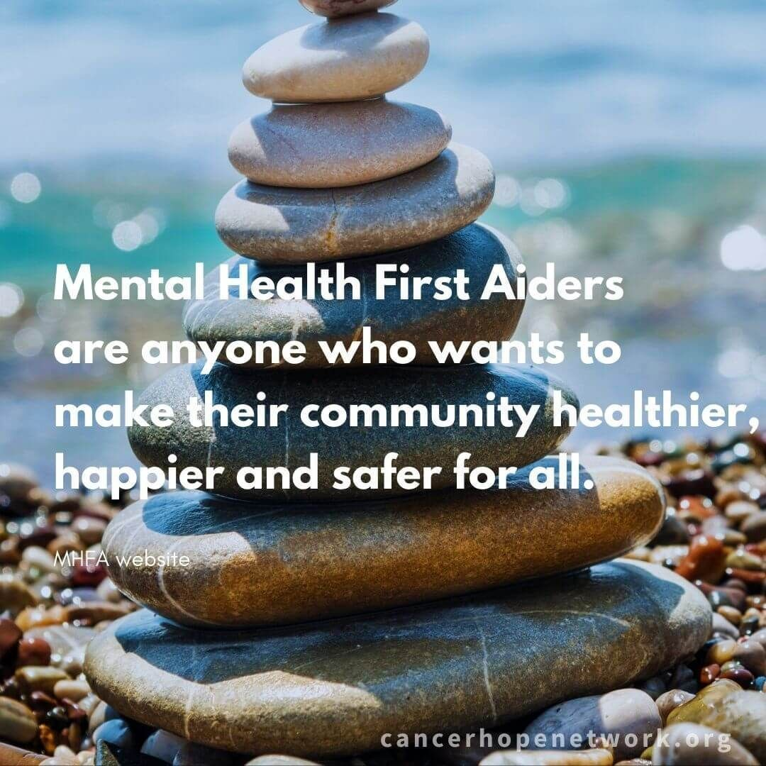 CHN staff, other caring professionals, certified as Mental Health First Aiders