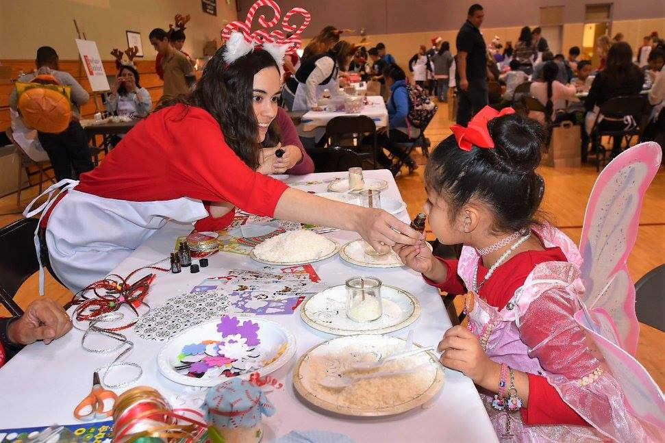 WE CARE Santa Land event with MTA Inspired Spaces