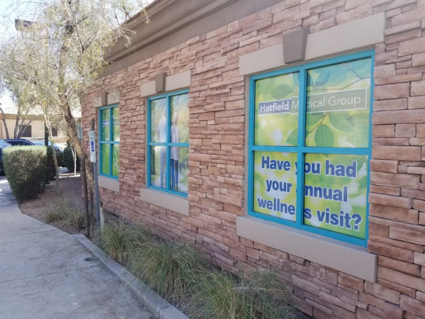 See-through vinyl window perf for medical groups