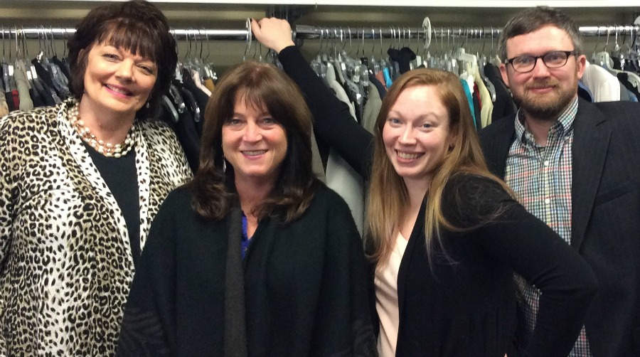 Staff at A Woman's Place thrift store, In Full Swing.