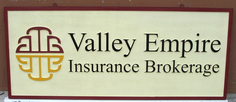 C12503 - Carved Insurance Brokerage Sign