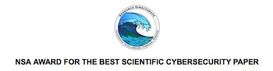 NSA 2014 Award Best Scientific Cybersecurity Award