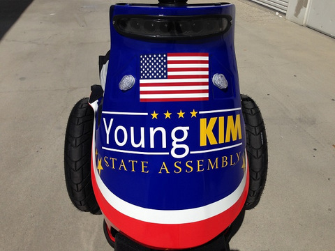 Vehicle graphics for election campaigns Orange County