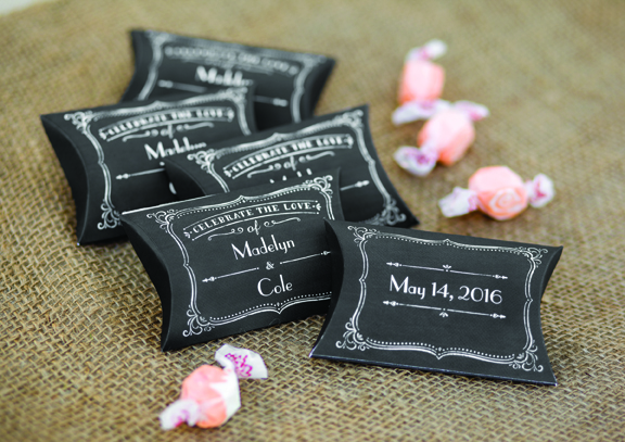 Chalkboard Personalized Pillow Boxes