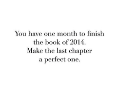 How will you finish the book of 2014?