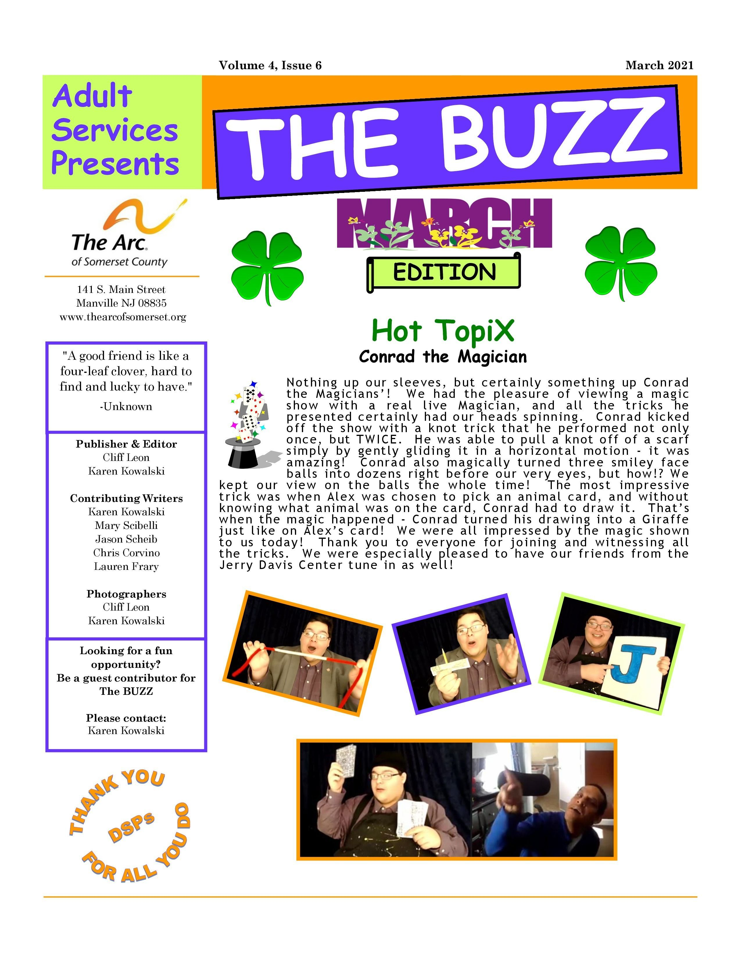 Check Out This Week's BUZZ  Newsletter - April 1 2021