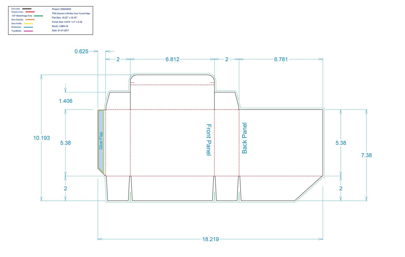 DSD44052-Slipcase 4-BluRay Case Turned Edge