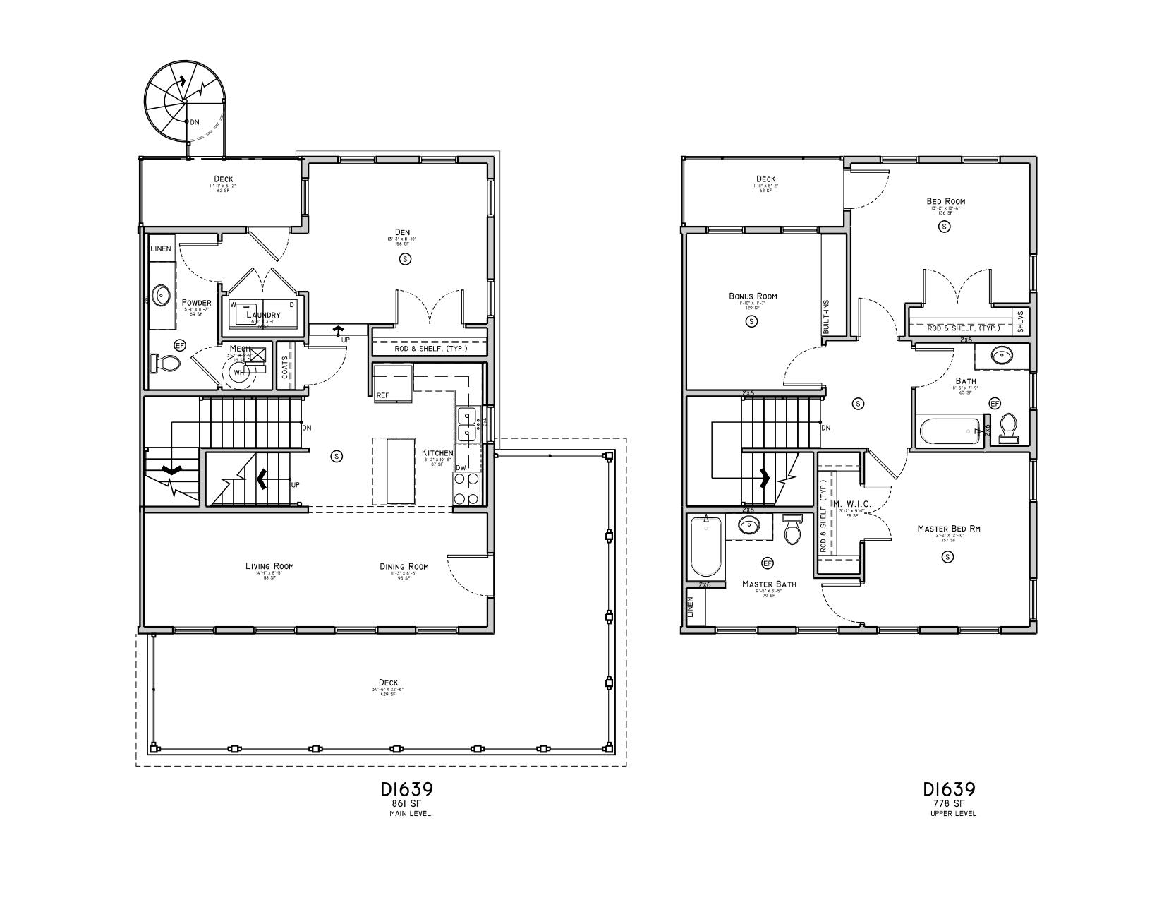 Unique, Large Floor Plans
