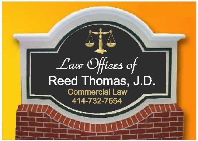 A10154 - Lawyer Monument Sign with Brick Base