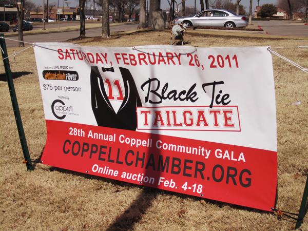 Black Tie Tailgate Banner