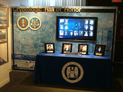 NSA Cryptologic Hall of Honor Display at the National Cryptologic Museum